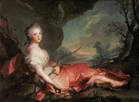 Portrait of Maria Adelaide of France, daughter of Louis XV dressed as Diana