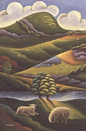 In the Highlands, 1987-93 (oil on board)