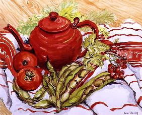 The Red Teapot (w/c on paper)