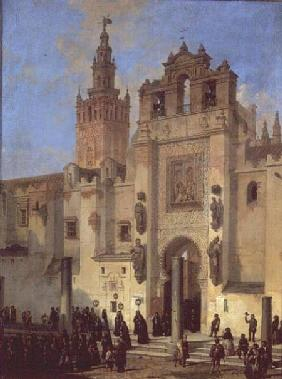 Religious procession in Seville