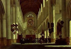 Inside of the great St. Bavo church in Haarlem