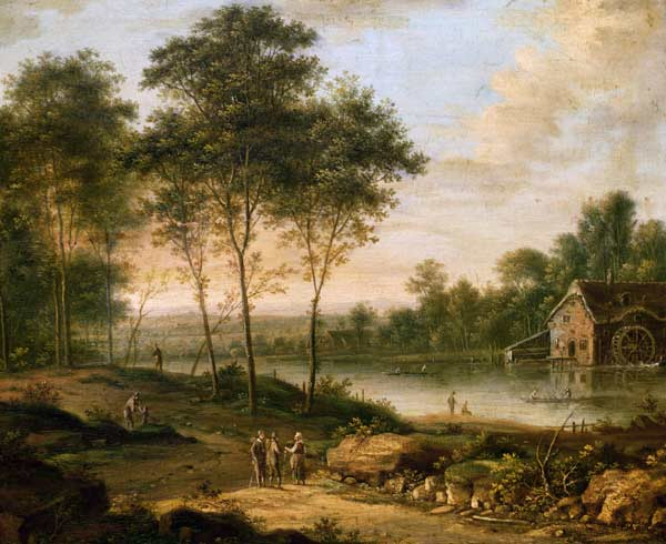 Paesaggio con mulino - quadro di Johann Christian Vollerdt