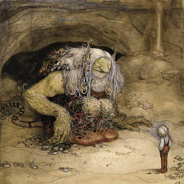 The Troll and the Boy (w/c on paper)