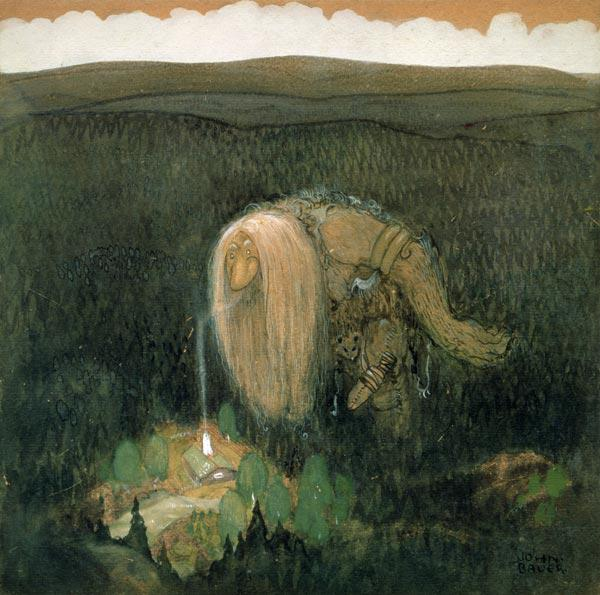 A Forest Troll, c.1913 (w/c on paper)