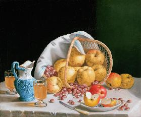 Still Life with Yellow Apples