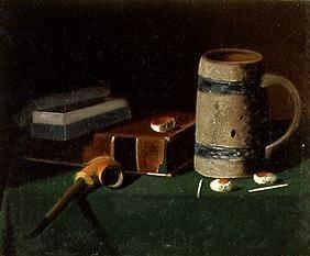Quiet life with book, pipe and tankard