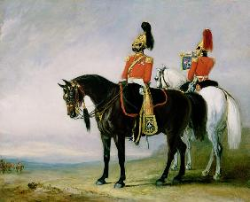 Colonel James Charles Chatterton (1792-1874) the 4th Royal Irish Dragoon Guards, on his Charger acco
