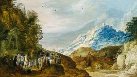The Sermon on the Mount (figures possibly by Hans Jordeans)