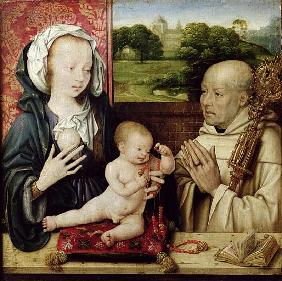 The Virgin and Child worshipped by St.Bernard