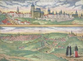 Map of Prague, from 'Civitates Orbis Terrarum' by Georg Braun (1541-1622) and Frans Hogenberg (1535-