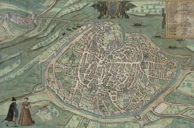 Map of Avignon, from 'Civitates Orbis Terrarum' by Georg Braun (1541-1622) and Frans Hogenberg, c.15
