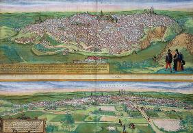 Map of Toledo and Valladolid, from 'Civitates Orbis Terrarum' by Georg Braun (1541-1622) and Frans H