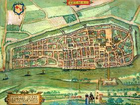 Map of Bremen, from 'Civitates Orbis Terrarum' by Georg Braun (1541-1622) and Frans Hogenberg (1535-