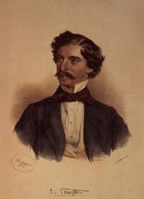 Johann Strauss the Elder (1804-49) (drawing with wash)