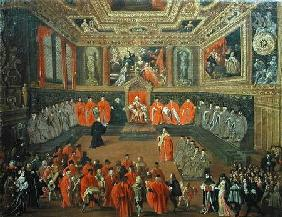 Audience with the Doge in at the College of the Ducale Palace