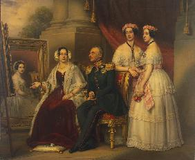 Family portrait of Joseph, Duke of Saxe-Altenburg