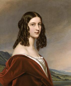 Portrait Friederike Freifrau of Gumppenberg beauties gallery king Ludwigs I. of Bavaria in