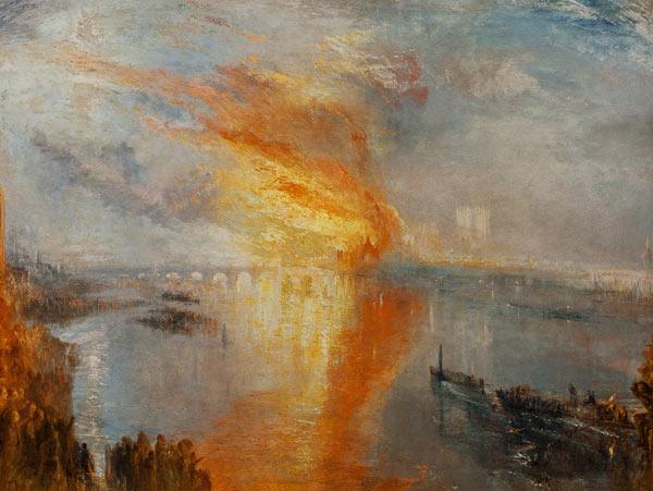 Incendio alla camera dei lord e dei comuni olio su tela for Numero deputati alla camera