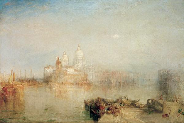 'immagine : william turner - dogana e s. maria della salute, venezia