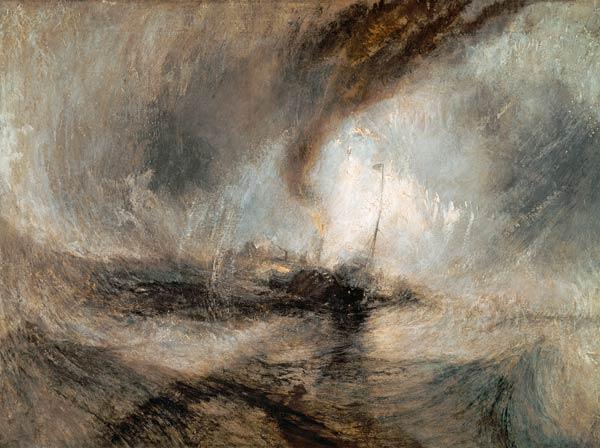 Titolo dell'immagine : William Turner - Tempesta di neve sul mare