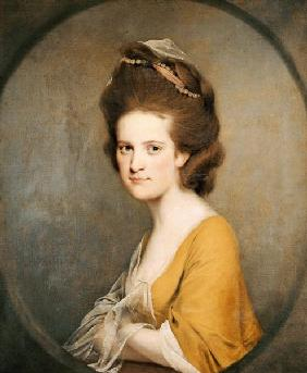 Portrait Of Dorothy Hodges (1752-1800),  Half-Length,  In A Yellow Dress