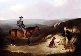 John Kerr Watson Mounted on a Shooting Pony with his Keeper on the Yorkshire Moors