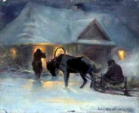 Winter Evening In Front of a Country House, 1921