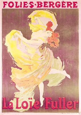 Poster advertising Loie Fuller (1862-1928) at the Folies Bergeres