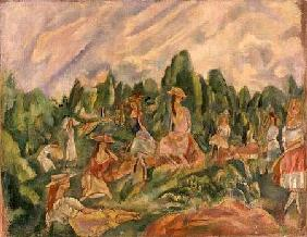 Young Women in a Landscape