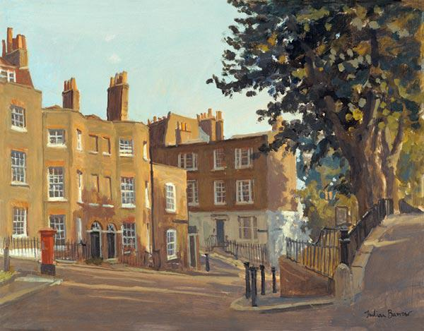 Holly Hill, Hampstead (oil on canvas)