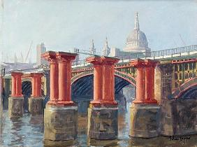Blackfriars Bridge (oil on canvas)