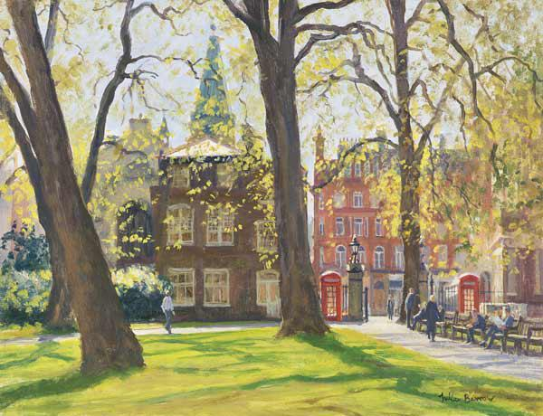 Mount Street Gardens (oil on canvas)