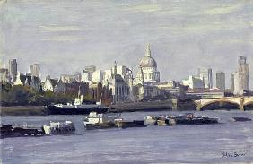 St. Paul''s from Bankside (oil on canvas)