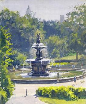 The Bethesda Fountain, Central Park, 1996 (oil on canvas)