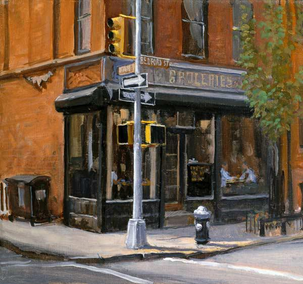 West Village Corner Shop, 1997 (oil on canvas)