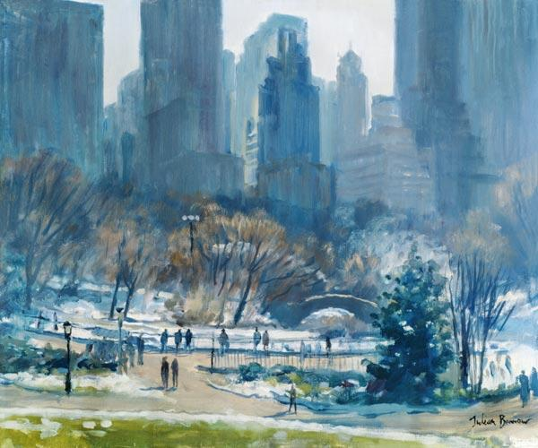 Inverno in Central Park, New York, 1997 (olio su tela)