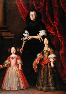 Ferdinando II (1610-70) Grand Duke of Tuscany and Maria Ludovica de' Medici with the Governess