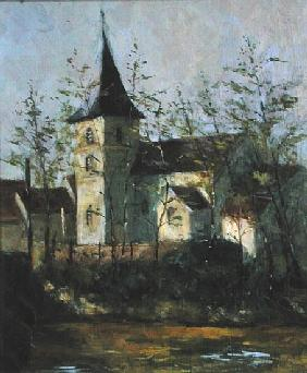 French Church (oil on canvas)