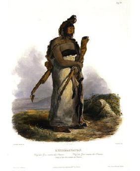 Mexkemahuastan, Chief of the Gros-Ventres of the Prairies, plate 20 from Volume 1 of 'Travels in the
