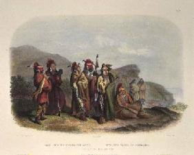 Saukie and Fox Indians, plate 20 from volume 1 of 'Travels in the Interior of North America, 1832-34