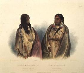 Woman of the Snake-Tribe and Woman of the Cree-Tribe, plate 33 from volume 2 of `Travels in the Inte
