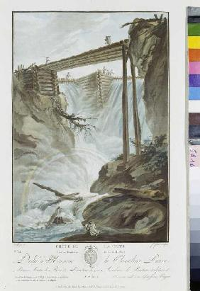 The weir at Mühletal eastern of Innentkirchen, study to the oil painting
