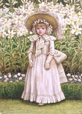 Child in a White Dress