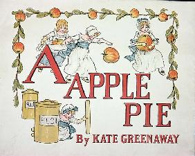 Illustration for the letter ''A'' from ''Apple Pie Alphabet'', published 1885