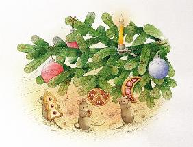 Christmas Tree and Mice, 1999 (w/c on paper)