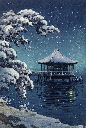 Floating Pavilion at Katada in the snow, 1934