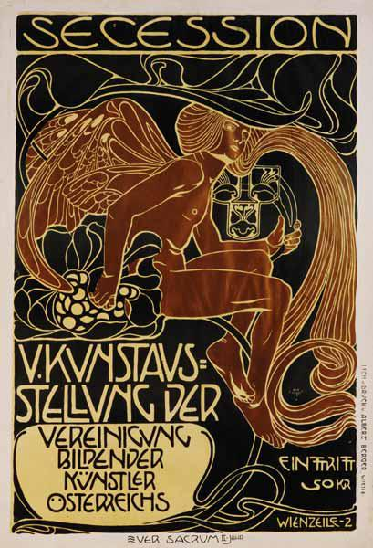 Poster for the 5th exhibition of the Viennese secession 1899