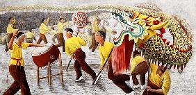 Dragon Festival, 1996 (gouache on rice paper)