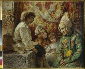Grandma with Kids (Grandmother's Fairy Tale)