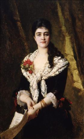Portrait of the singer A. Panaeva-Kartseva as Tatyana in the opera Eugene Onegin by P. Tchaikovsky